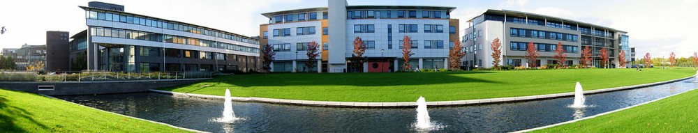Warwick University buildings panoramic - Manufacturing and CS and Maths