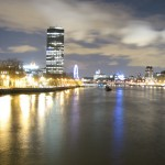 River Thames and Millbank by night