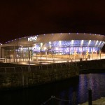 The Echo Arena at night